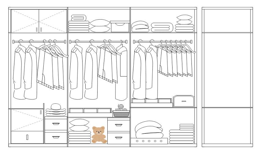 亿图图示10.5破解版怎么画衣柜设计图1
