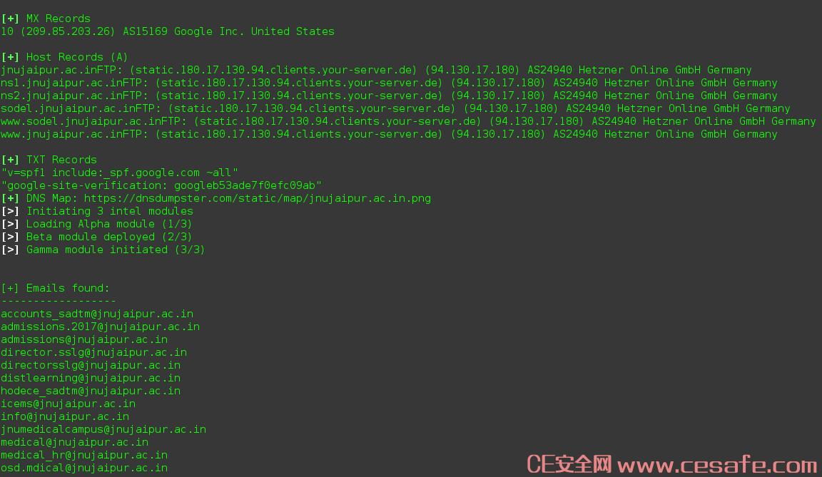 Striker Web敏感信息漏洞扫描工具