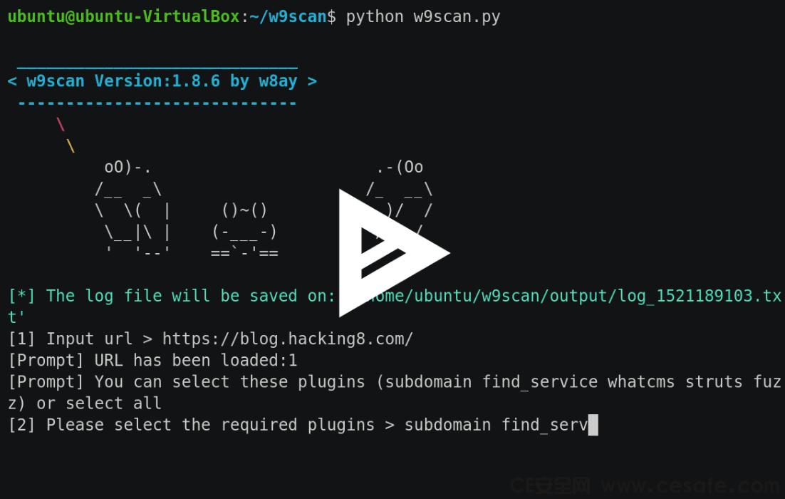 w9scan 全能网站漏洞扫描工具
