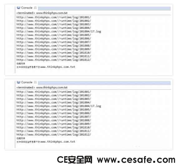 thinkphp5 log日志扫描工具(python脚本)
