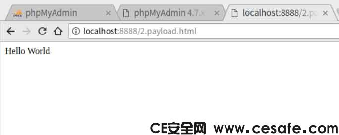 phpMyAdmin 4.7.x CSRF 漏洞利用