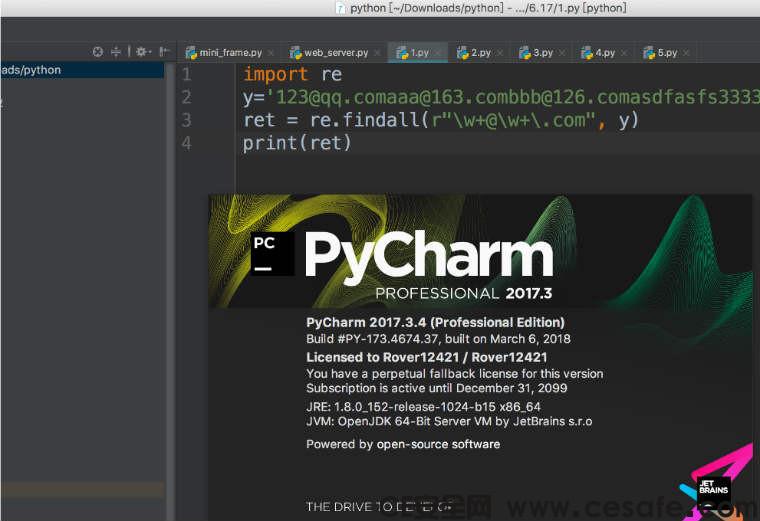 PyCharm永久版 MacOS