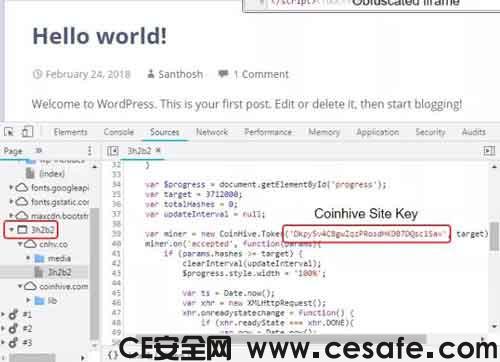 网上冲浪请小心CoinHive JavaScript矿工恶意软件