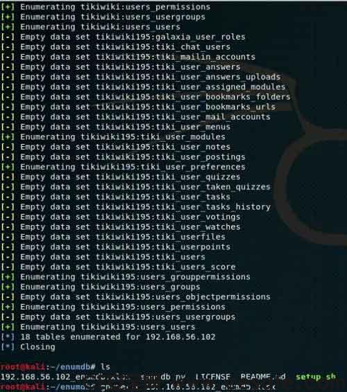 Enumdb 数据库敏感信息搜索提取利用工具