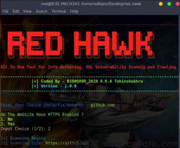 REDHAWK信息收集漏洞扫描渗透测试工具