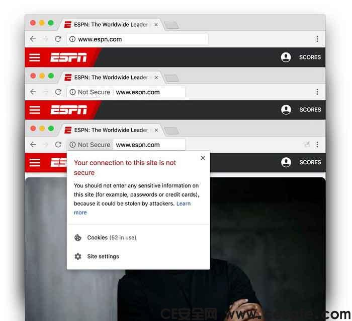 Google Chrome 68 正式向所有不安全的 HTTP 网站发出警告