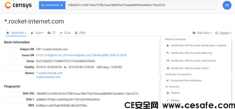 查找CloudFlare CDN和Tor真实源站IP