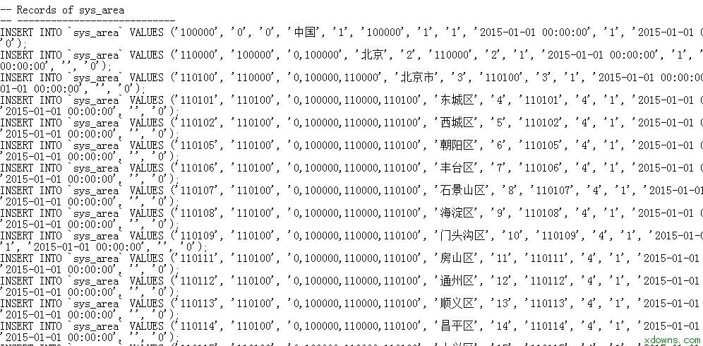 全国区域数据库设计下载|树结构绿色版